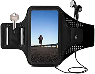 ORIbox 跑步臂带,手机跑步臂带,轻质,多功能便携,适合 iPhone,iPhone 12 Pro max/12Pro/12/12 mini/11 Pro max/11,适合三星 Galaxy (黑色)