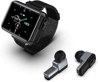 DECWIN 智能手表手环 2 合 1 TWS 无线蓝牙耳塞 1.4 英寸(约 3.1 厘米)心率*健身追踪器腕带智能手表防水
