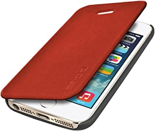 Seidio LEDGER Flip Case with Metal Kickstand for Apple iPhone 5/5S - Retail Packaging - Red