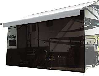 Shadeidea RV 遮阳篷遮阳篷 - 15.24 厘米 X 38.56 厘米 黑色网眼遮阳棚 房车露营拖车 UV 遮阳篷 遮阳篷 提供 3 年保修