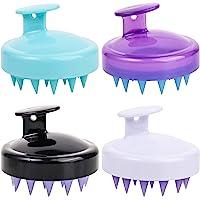 4 件装硅胶发*按摩器洗发刷头淋浴器