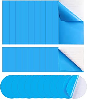 ASMPIO 30 件乙烯基泳池贴片,自粘 PVC 修补贴,适用于游泳池、充气船、气垫床、筏皮划艇,蓝色