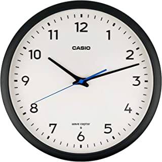 CASIO(カシオ) 掛け時計 ブラック 直径31.1㎝ 電波時計 IQ-1013J-1JF