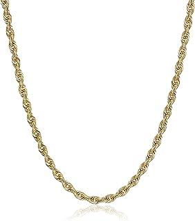 Pori Jewelers 14K 黄金 3MM 空心钻石切割绳链项链中性款尺寸 45.72cm-60.96cm