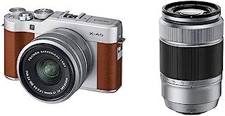 Fujifilm X-A5 套装,富士顿 XC15-45mm + XC50-230mm 光学镜头,棕色