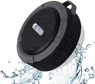 C6 便携式蓝牙音箱,防水蓝牙音箱,6 小时播放时间,响亮的高清声音,带吸盘的淋浴扬声器和坚固的挂钩,适用于手机、电脑、笔记本电脑
