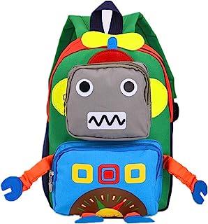Aom 儿童幼儿可爱机器人预酷背包卡通旅行袋适合女宝宝男孩