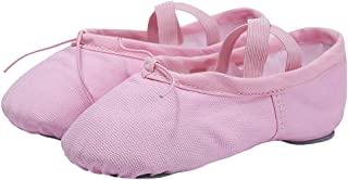 女式芭蕾舞鞋女式帆布分离式鞋底芭蕾拖鞋芭蕾平底鞋 瑜伽舞鞋