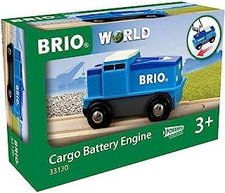 BRIO World - 货运电池引擎 - 蓝色