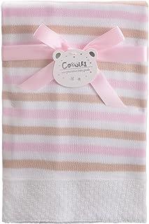 Booulfi 婴儿高级 * 腈纶针织毯新生儿男宝宝/女孩礼物(101.6 厘米 x 101.6 厘米)