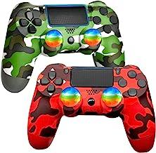 AUGEX 无线游戏控制器,遥控器遥控器,带充电线和双冲击(*迷彩和红色迷彩)