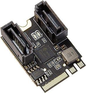 IO CREST 2 端口 SATA III 6 gb/s 至 M.2 NGFF A Key + E Key A+E Key 22x30 2230 毫米 JMicron JMB582