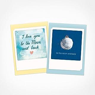 PICKMOTION 2 张折叠卡片,包括信封,柏林设计的手工插图 - 生日、祝贺、问候、婚礼