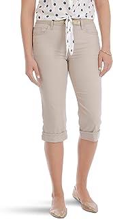 LEE Riders 女式束带袖口七分裤 简约 灰褐色 尺码 22