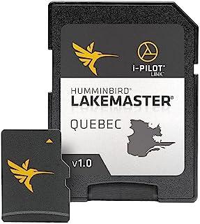 Humminbird LakeMaster 魁北克版数码 GPS 湖地图 Micro SD 卡,版本 1