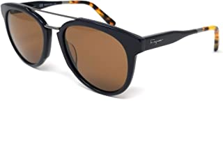 Salvatore Ferragamo SF865S 414 太阳镜女式蓝色哈瓦那/棕色镜片 55mm