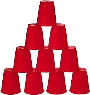 Kidsco 迷你快餐杯游戏 - 12 只装 - 2 英寸酷炫有趣的经典杯子游戏 - 拼图游戏,堆叠杯,快速堆叠杯 - 新奇玩具,恶作剧玩具,派对喜爱,派对游戏
