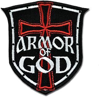 战术 COMBAT bagde 军事魔术贴徽章刺绣魔术贴士气布贴–盔甲 OF GOD