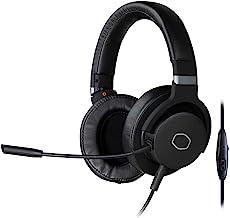 Cooler Master 冷却器 MH-751 MH751 2.0 游戏耳机,带毛绒、旋转式耳机、40 毫米钕驱动器和* Boom 麦克风,适用于 PC、PS4 和 Xbox,黑色