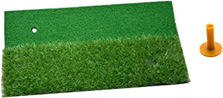 POSMA HM100 高尔夫长短草击球垫 便携式高尔夫练习垫 高尔夫挥杆垫 高尔夫草坪驾驶训练辅助工具 - 30x60cm 带橡胶 T 恤