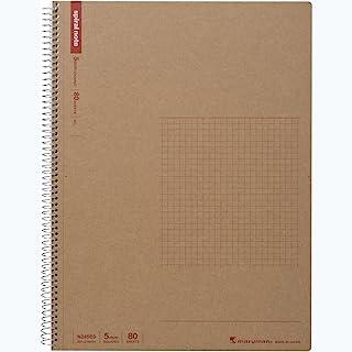 Maruman SPIRAL NOTE 基本款 9 x 11.7 英寸(A4),5 毫米平方,80 张 (N245ES)
