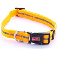 反光,防水,无桩,可调节耐用狗狗项圈 - 2 年保修 霓虹橙色 X-S