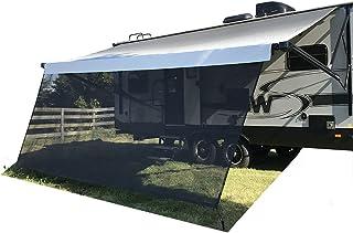 Tentproinc RV 遮阳篷遮阳罩 9 英尺 X 19 英尺 3 英寸(约 22.9 厘米 X 48.9 厘米)黑色网眼遮阳罩完整套件汽车露营拖车遮阳篷 UV 遮阳篷 - 3 年有限保修