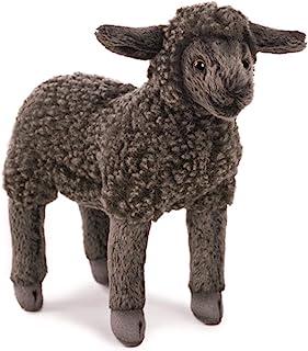 Hansa 小羊羔毛绒玩具,7 英寸,黑色