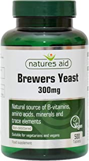 Natures Aid Brewers Yeast, 300 mg, 500 Tablets (Natural Source of B-Vitamins, Amino Acids, Minerals and Trace Elements, Ve...