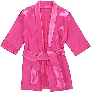 婴幼儿女婴法兰绒柔软浴袍和服睡袍睡衣睡袍带腰带