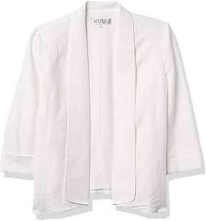 Kasper 女士亚麻飘逸衬里夹克,带袖口