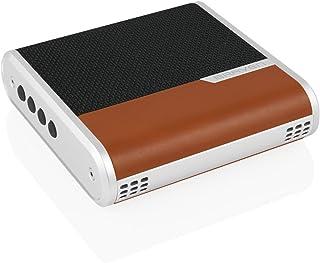 BRAVEN 桥式蓝牙扬声器和会议设备 [12 小时播放时间] 2600 毫安移动电源 - 黑色/浅棕色/银色