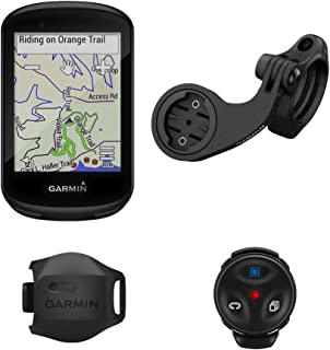 Garmin Edge 830 山地自行车套装,高性能触摸屏GPS自行车/自行车计算机,具有地图绘制功能,动态性能监控和人气路由,包括速度传感器和山地自行车安装座