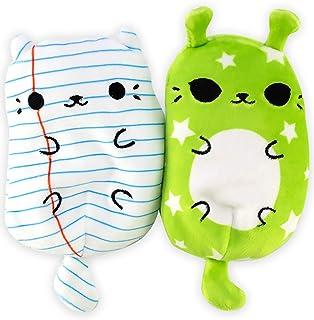 猫咪大战腌料 - 空白页面和 Zunar F9 - 2 件装 - 4 英寸(约 10.2 厘米)可爱可爱可收藏豆毛绒玩具 - 你是小猫还是队员匹克?集齐全部!