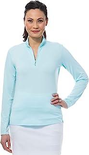 SanSoleil 女式 UV 50 Sunglow 长袖拉链半高帮上衣