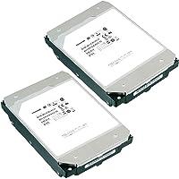 TOSHIBA 东芝 3.5英寸 内置HDD 12TBx2台(CMR) 7,200rpm SATA 24x7 RV传感器…