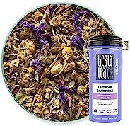 Tiesta Tea 薰衣草洋甘菊热茶/冰茶,散装柔软洋甘菊草本茶 无咖啡因,2 盎司锡(56.7克),50 包装