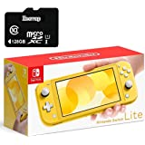 Nintendo 任天堂 Switch Lite 游戏机,5.5 英寸触摸屏,内置加控制垫,黄色,W/ 128GB Mi…
