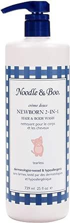 Noodle & Boo 新生儿 2 合 1 婴儿洗发水和沐浴露,无泪,低致敏性
