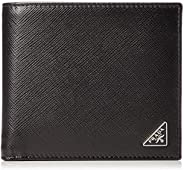 Prada 普拉达 对折钱包 2MO738 QHH 萨菲亚诺 皮革 黑色 One Size