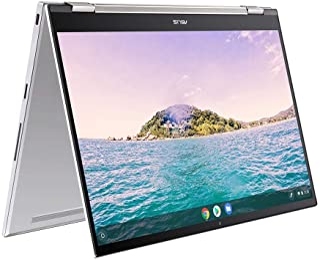 ASUS 华硕 Chromebook Flip C436FA 14 英寸全高清触摸屏笔记本电脑(Intel i5-10210U,8GB RAM,256GB M.2 NVMe PCIe SSD,背光键盘)- 包括触控笔