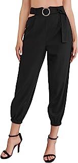 WDIRARA 女式镂空腰带高腰弹力休闲露脐裤带戒指