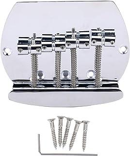 Musiclily Pro 57 毫米 4 弦低音桥,适用于音乐人风格低音,镀铬