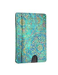 超薄極簡主義錢包卡夾,Fintie 射頻屏蔽錢袋,帶證件插袋信用卡插槽套