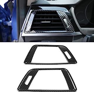Qiilu 侧空调通风口装饰框架盖碳纤维左右 AC 通风口盖适用于宝马 3 系列 F30 2013-2018