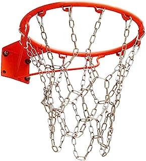 重型不锈钢链篮球网,户外悬挂篮带 12 个挂钩,适合大多数标准篮球,包括室内健身房,无需担心生锈。