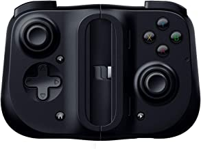 Razer Kishi 适用于iPhone - 智能手机游戏控制器(USB-C连接,人体工程学设计,适合手机,模拟棒,超低延迟)黑色