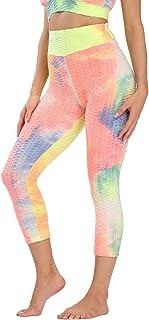 女式高腰健身瑜伽裤收腹褶皱打底裤运动健身健身聚拢提臀紧身裤