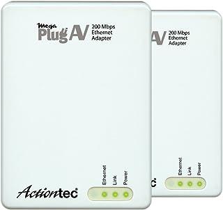 Actiontec MegaPlug A/V 200 Mbps 电力线网络适配器套件(白色)
