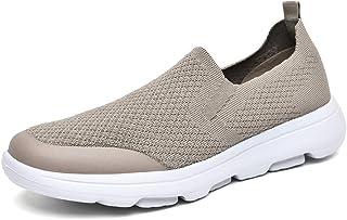 LANCROP 男式一脚蹬鞋 - 休闲轻质帆布平底船鞋